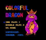 Tagin' Dragon NES Title screen and game selection(original Sachen release)