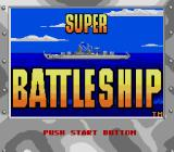 Super Battleship: The Classic Naval Combat Game  Genesis Title screen