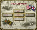 For Liberty! Windows Title and main menu screen
