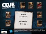 Clue: Accusations and Alibis Windows Main menu