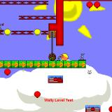 Wally: Land of the Wallows Windows Playing a custom level using the Robot skin.