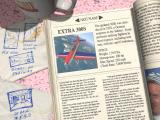 Flight Unlimited DOS Pre-flight screen for the Extra 300S.