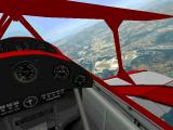 Flight Unlimited DOS The virtual cockpit of the Pitts - you fly from the rear seat.