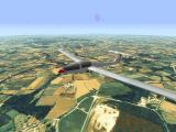 Flight Unlimited DOS Soaring the Grob over Dinan, France.