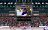 Wayne Gretzky Hockey 3 DOS Fighting sequence