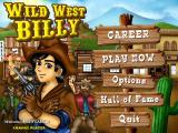 Wild West Billy Windows Title screen and main menu