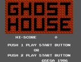 Ghost House SEGA Master System Title Screen