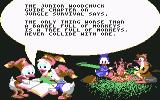 "Disney's Duck Tales: The Quest for Gold Commodore 64 Reading ""Junior Woodchuck Guide"""