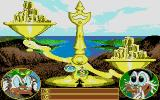 Disney's Duck Tales: The Quest for Gold Atari ST Examining gold at Macaroon Island