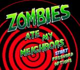 Zombies Ate My Neighbors Genesis Title screen
