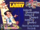 Leisure Suit Larry Collection Windows After the installation you can choose a desired part from this menu. Mind the nice idea of putting the evolving Larry character alongside of each title!