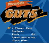 Nickelodeon GUTS SNES Main menu