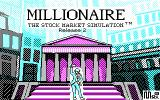 Millionaire: The Stock Market Simulation (Release 2) DOS Title Screen