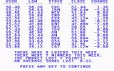 Millionaire: The Stock Market Simulation Commodore 64 Price Changes