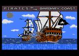 Pirates of the Barbary Coast Atari 8-bit Title Screen