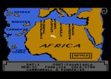 Pirates of the Barbary Coast Atari 8-bit Select the destination on the map of Northern Africa