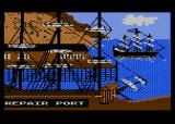 Pirates of the Barbary Coast Atari 8-bit Repairing docks