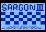 Sargon III Atari 8-bit Title Screen
