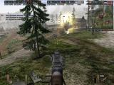 Battlefield 1942: Secret Weapons of WWII Windows Using the mounted gun over a German tank.