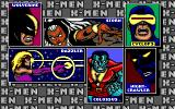 X-Men DOS Character selection screen