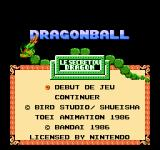 Dragon Power NES Title screen (French version)
