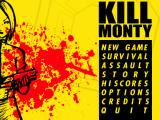 Kill Monty Macintosh Main Menu