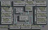 Beyond Dark Castle Commodore 64 The game map