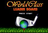 World Class Leader Board Genesis Title screen