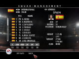 Rugby 08 Windows Squad management screen