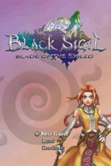 Black Sigil: Blade of the Exiled Nintendo DS Title screen.