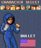 Super Fighter Block Battle Symbian Selecting a fighter.
