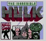 The Incredible Hulk Game Gear Title screen