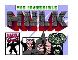 The Incredible Hulk SEGA Master System Title screen