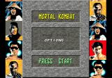 Mortal Kombat Genesis Main menu with all the chaps