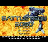 BattleTech: A Game of Armored Combat SNES Title screen and main menu (Japanese version)