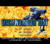 BattleTech: A Game of Armored Combat SNES Title screen and main menu (US/European version)