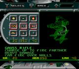 BattleTech: A Game of Armored Combat SNES Your weapon choices.