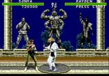 Mortal Kombat Genesis The muscle-man in the background cheers Rayden