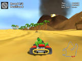 Crazy Chicken Kart 2 Windows Racing on the beach