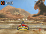 Crazy Chicken: Kart 2 Windows Second position on the mines track