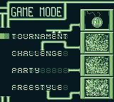 Championship Pool Game Boy Select your game mode.