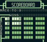 Championship Pool Game Boy The scoreboard.