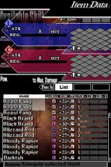 Knights in the Nightmare Nintendo DS Before going into the battle the player is supposed to equip four weapons - choose wisely, as you can't change them during the battle.