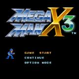 Mega Man X3 PlayStation Title screen