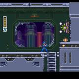 Mega Man X3 PlayStation Everything's broken and falling apart in the first stage.