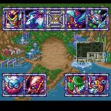 Mega Man X3 PlayStation Boss selection screen.