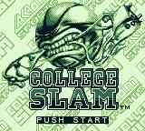 College Slam Game Boy Title screen