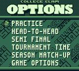 College Slam Game Boy Are you going to practice, play head-to-head, a semi-final or what?