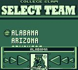College Slam Game Boy I chose to practice. Now, I need to select my team.