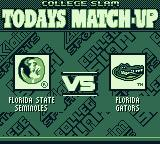 College Slam Game Boy Today's match-up